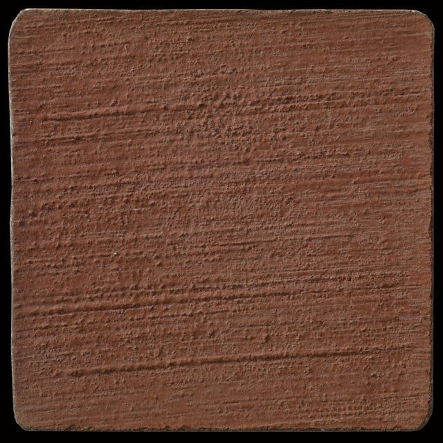 "This is a photo of an actual 3"" x 3"" concrete tile sample integrally colored with Davis Colors' Brick Red (pigment # 160) with a broom finish. This video reproduction is just for ideas. Please finalize your color selection from our printed color card, hard tile samples or job site test."