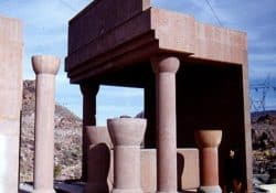 Before the Hoover Dam parking structure was built concrete mock-ups with different colors and finishes were made.  The final color chosen was Davis Colors' Omaha Tan with a sandblasted finish.  Davis Colors' iron oxide pigments do not fade even in the extreme heat and sunlight of the Nevada desert.