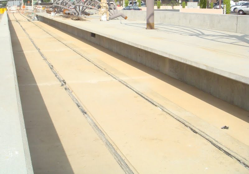 The Los Angeles Metro Gold Line colored with Davis Colors' Palomino.