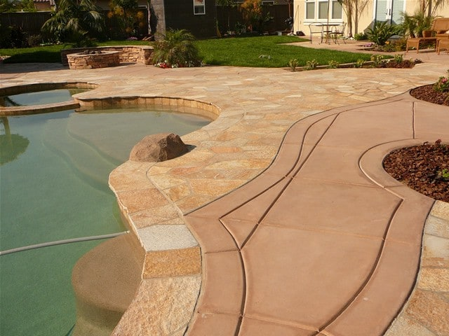 This patio in San Diego, CA was colored with Davis Colors Harvest Gold. The contractor was AJ Criss Landscaping (www.ajcriss.com). The concrete was supplied by Superior Ready Mix (www.superiorrm.com).