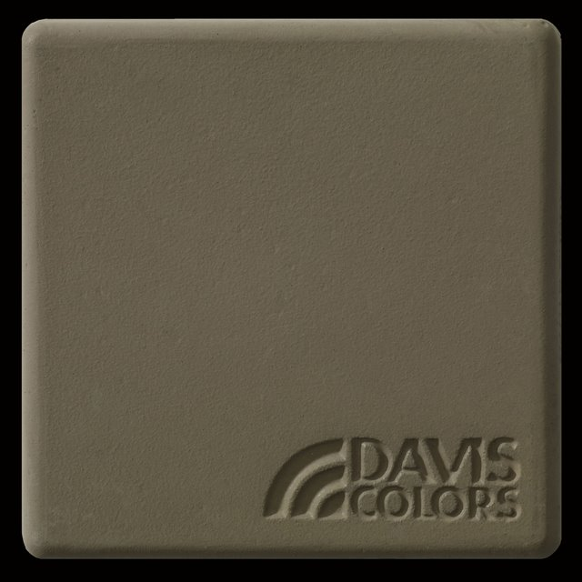 Sample tile colored with Davis Colors Adobe concrete pigment