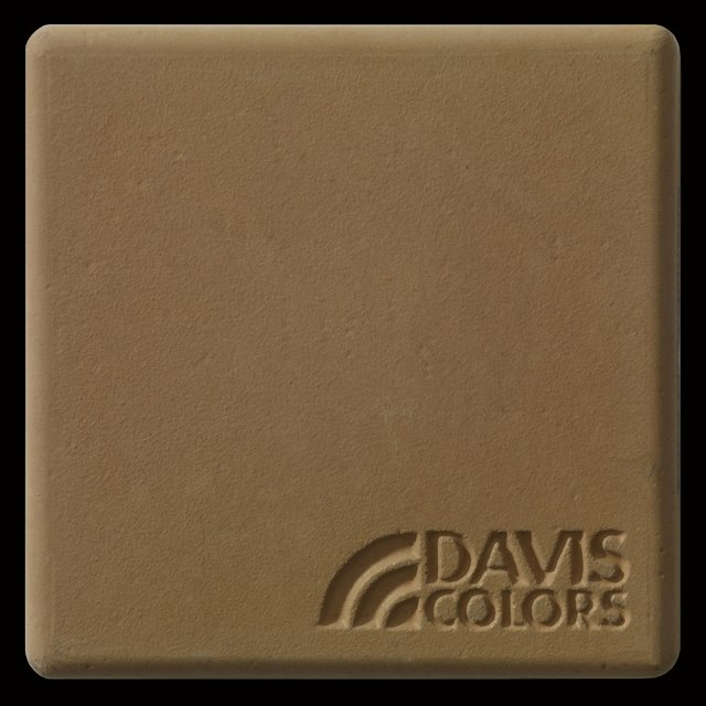Sample tile colored with Davis Colors Spanish Gold concrete pigment